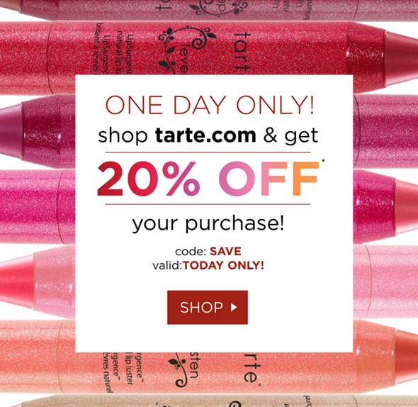 Today we offer you 24 Tarte Cosmetics Coupons and 26 deals to get the biggest discount. All coupons and promo codes are time limited. Grab the chance for a huge saving before it's gone. Apply the Tarte Cosmetics Coupon at check out to get the discount immediately. Don't forget to try all the Tarte Cosmetics Coupons to get the biggest discount.